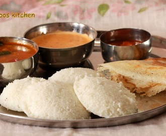 idli recipe - how to make soft idli / idli batter recipe