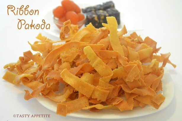 Ribbon Pakoda / Ola Pakoda / Diwali Snacks Recipes