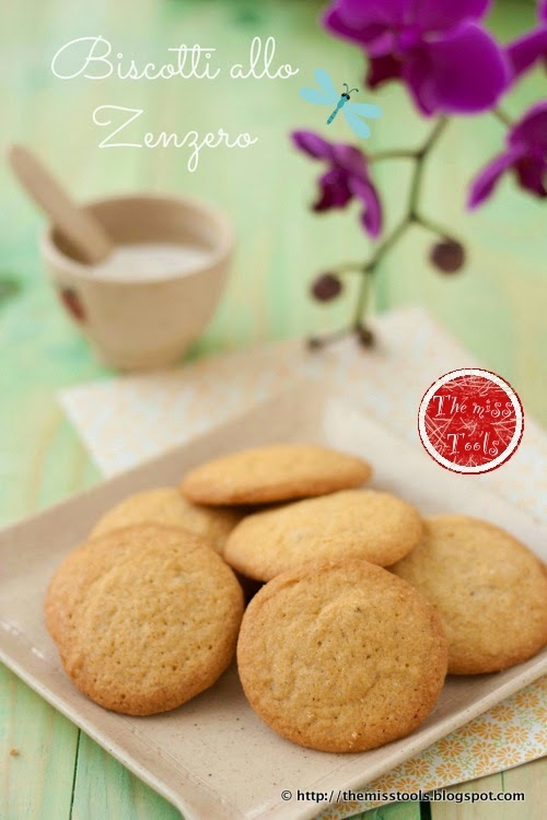 Deliziosi biscotti con zenzero, cannella e sciroppo d'acero - Ginger cookies with cinnamon and maple syrup