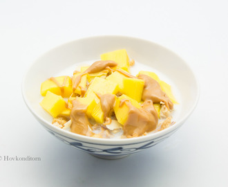 Cereal with Mango and Peanut Butter