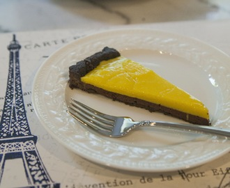 Gluten Free Chocolate Lemon Tart...Plus A CocoaPlanet Golden Ticket Giveaway!