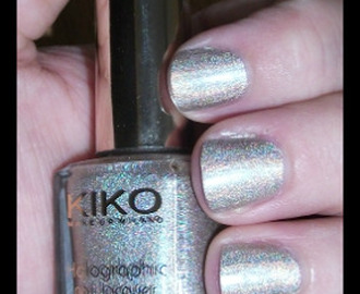 KIKO Holographic Nail Lacquer (399) Silk Taupe