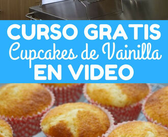 Curso en video #1 cupcakes de vainilla