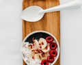 Raspberry and Cardamom Porridge Bowl