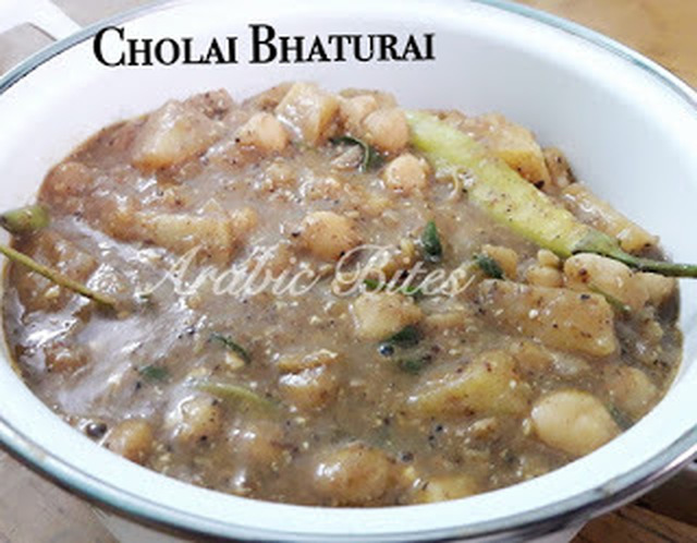 Cholai Bhatura With One Ingredient