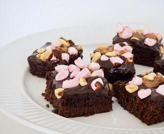 Rocky Road Brownies med dumle