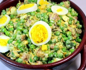 Pea and Bacon Salad - OLD SCHOOL Side Dish - Church PotLuck Cold Salad