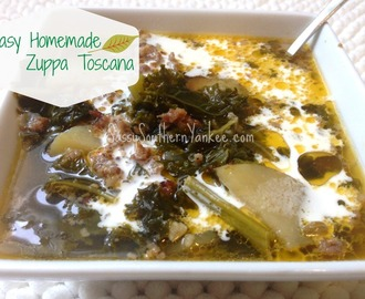 Easy Homemade Zuppa Toscana