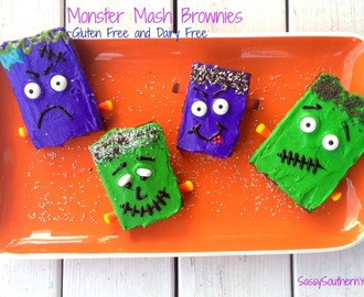 Monster Mash Fudge Brownies ~ Gluten Free