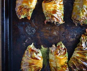 Asian-Style Stuffed Cabbage Rolls