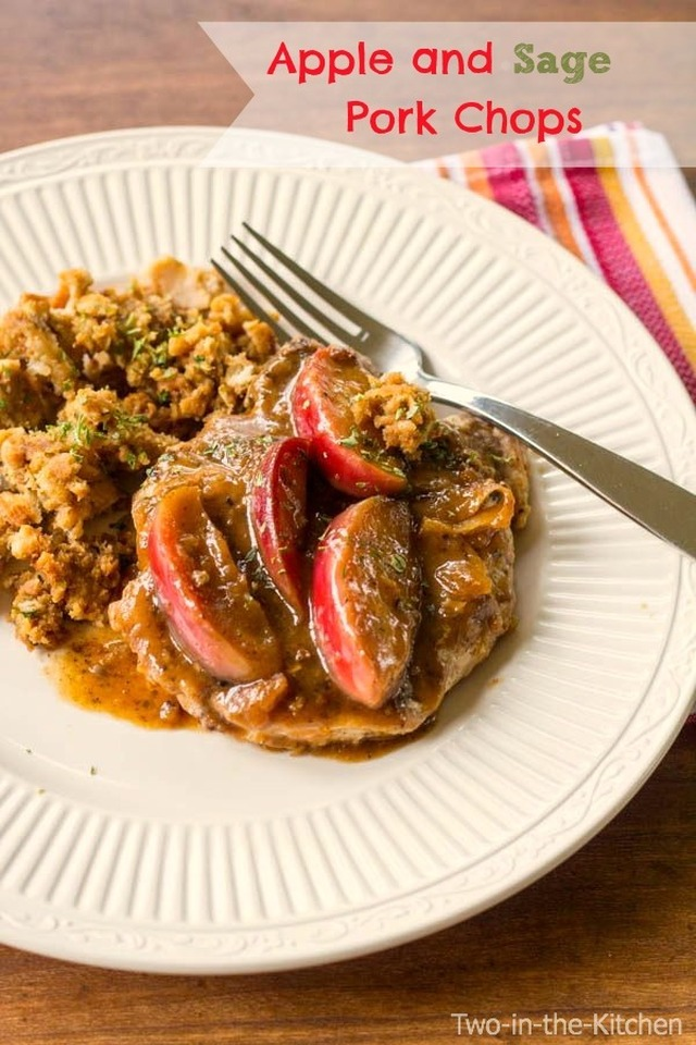 Apple and Sage Pork Chops and giveaway