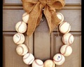 Throwback Thursday ~ Baseball Wreath