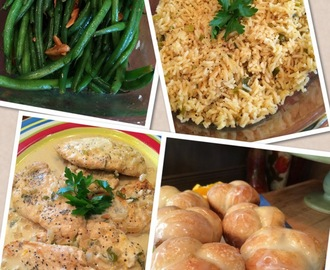 Recipes from today's show:)  Orange Curry Chicken, Lemon Pepper Green Beans, Orange Rice and my Orange Rolls..yum!