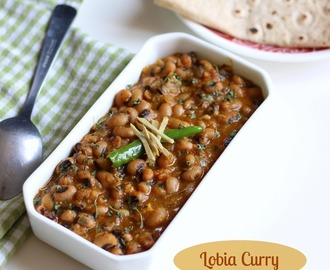 Lobia Masala Curry Recipe (Black-eyed Peas Curry), How to make Lobia Sabzi