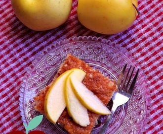 Simple and Sweet Spiced Apple Yogurt Cake #Kids In The Kitchen