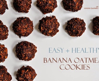 Easy & Healthy Banana Oatmeal Cookies