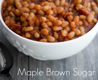 Maple Brown Sugar Baked Beans #SundaySupper