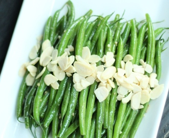 Garlic Green Beans Almondine