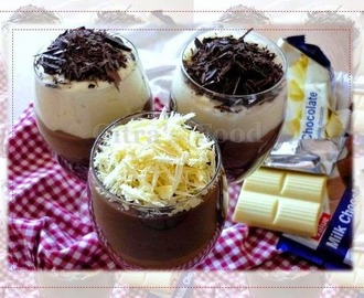 "Three tone Yogurt ""Cheese"" Chocolate mousse"