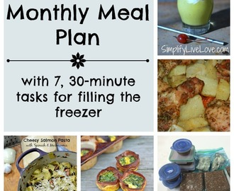 March Meal Plan & 7, 30 Minute Tasks for Filling the Freezer