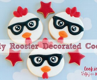 NERDY ROOSTER - Step by step tutorial on how to create this cute cookies!