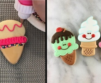 Easy Cookie Decorating Tips And Tricks - Cookie Ice Cream decorating for beginner