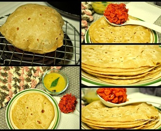 Phulka (Soft and flat wheat breads)