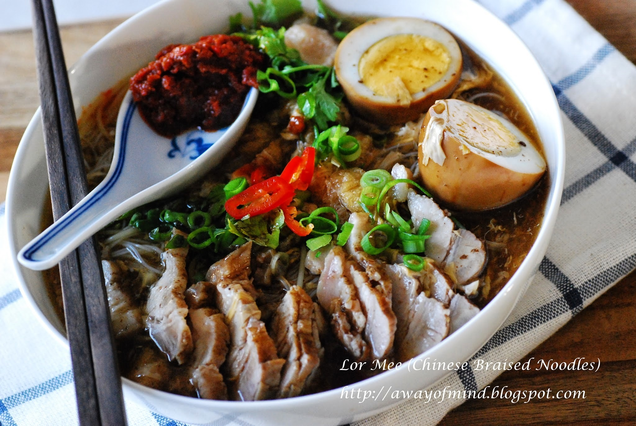 Lor Mee in Balsamic Vinegar (Chinese Braised Noodles) 卤面