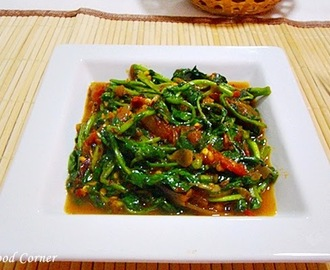 Watercress stir fry in Sri Lankan Style