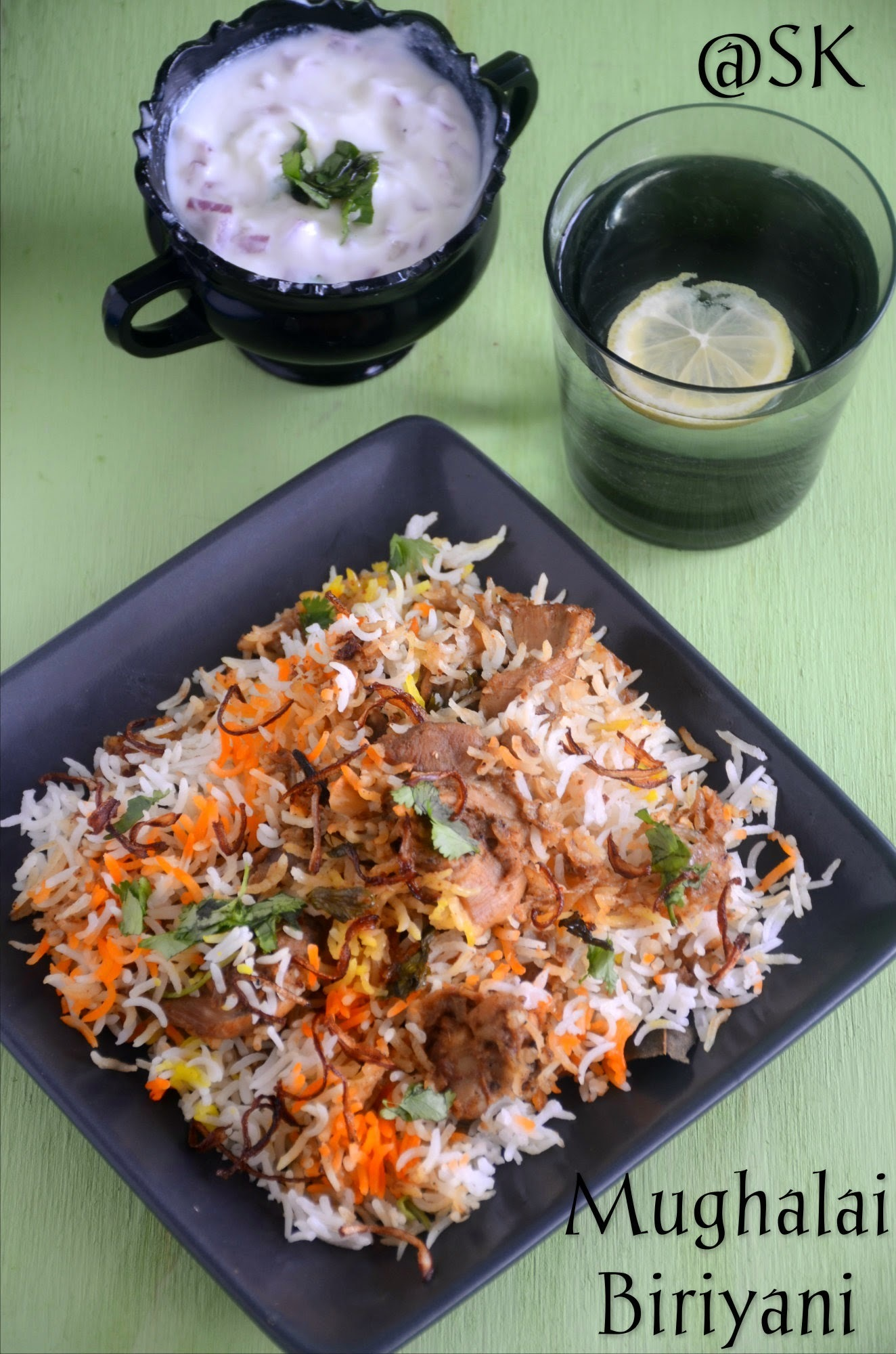 Mughalai Chicken Biriyani - Step by Step
