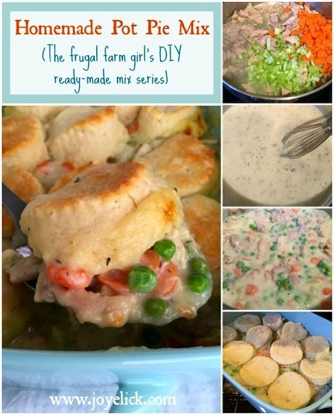 Homemade POT PIE MIX (plus a recipe for EASY CHICKEN POT PIE): The frugal farm girl's DIY ready-made mix series.