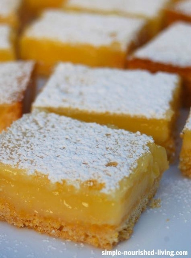Weight Watchers Low Fat Lemon Bars