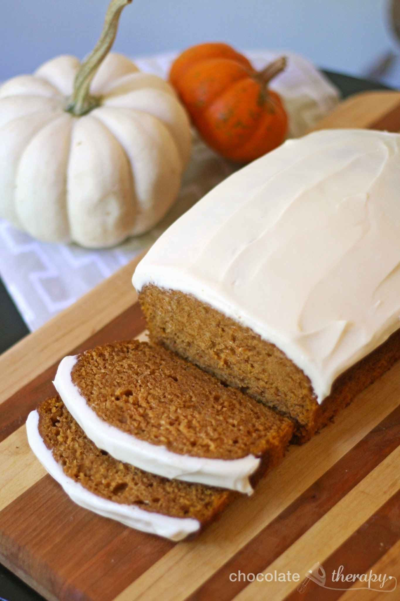 Pumpkin Bread with Cream Cheese Frosting