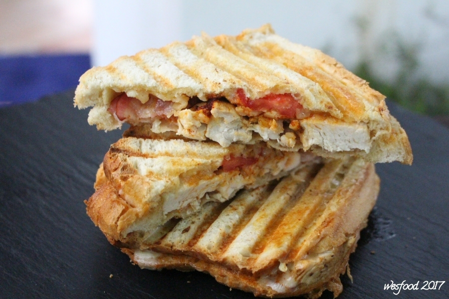 Grilled Cheese-Bacon-Chicken Sandwich