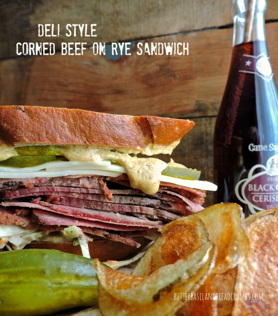 Deli Style Corned Beef on Rye Sandwich