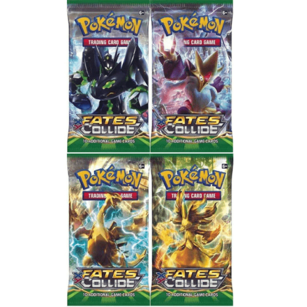Pokemonkort fates collide 4 pack