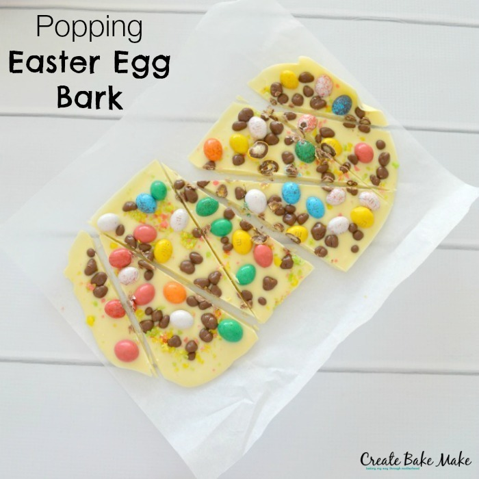 Popping Easter Egg Bark