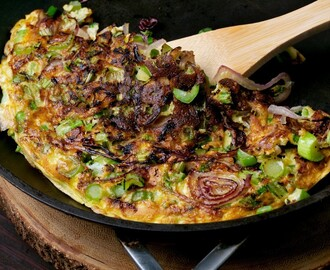 Egg Foo Yong With Greens and Onion
