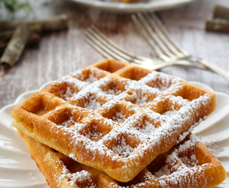 Light & crispy Belgian waffles