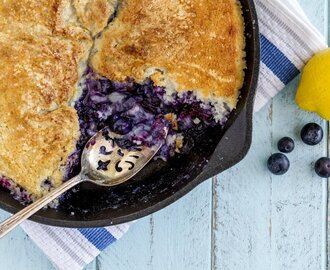 Cardamom Summer Blueberry Cobbler