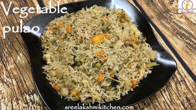Vegetable pulao | veg pulav in pressure cooker | how to make veg pulao