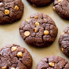 Flourless Peanut Butter Brownie Cookies.