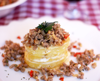 Menu Favorit Keluarga (3) : Potato Gratin with Spicy minced meat