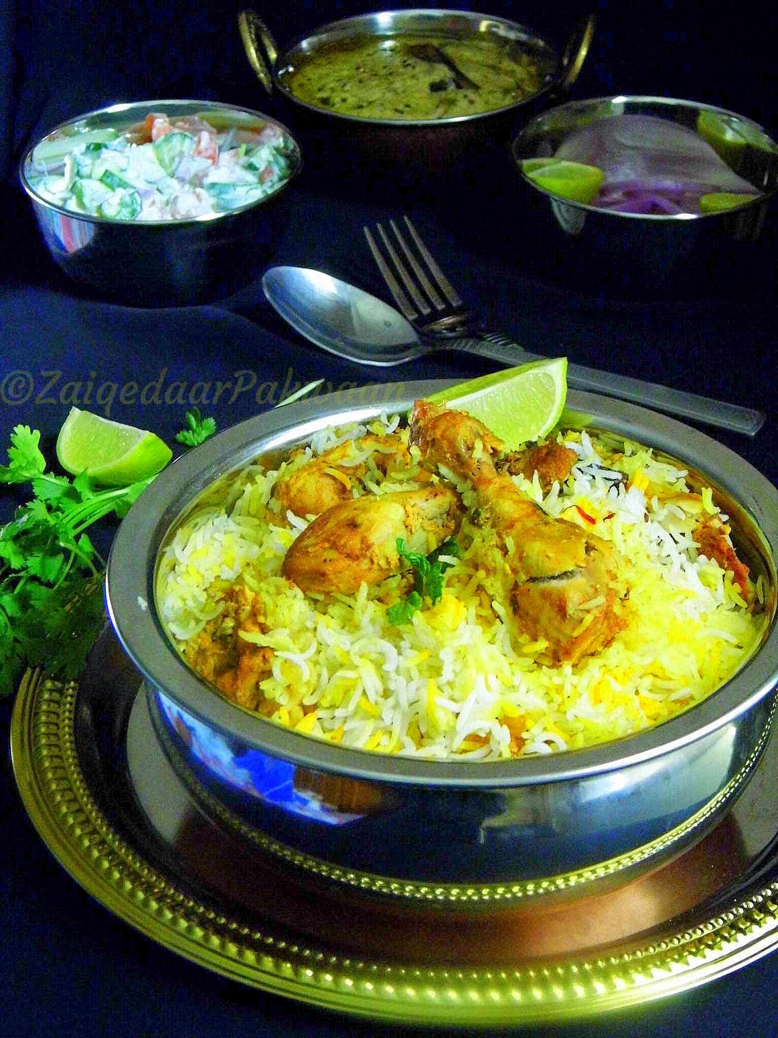 Hyderabadi Chicken Biryani (Kachi Yaqni)