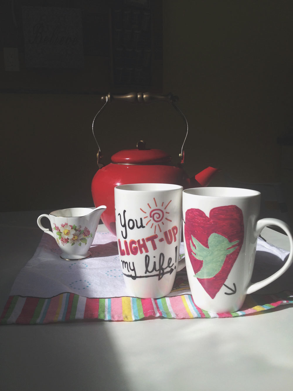 Date Night Idea: DIY Sharpie Mugs