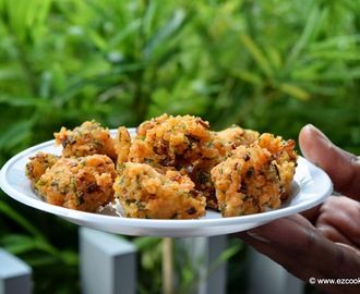 crispy rice pakoda - easy snack recipe