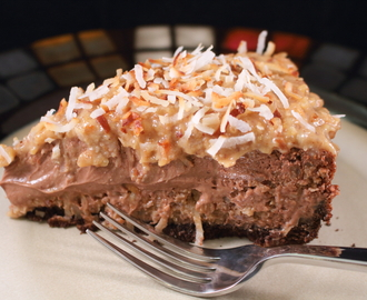 Decadent German Chocolate Coconut Cheesecake with Rum