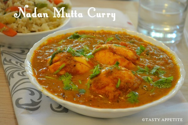 KERALA STYLE EGG CURRY - NADAN MUTTA CURRY