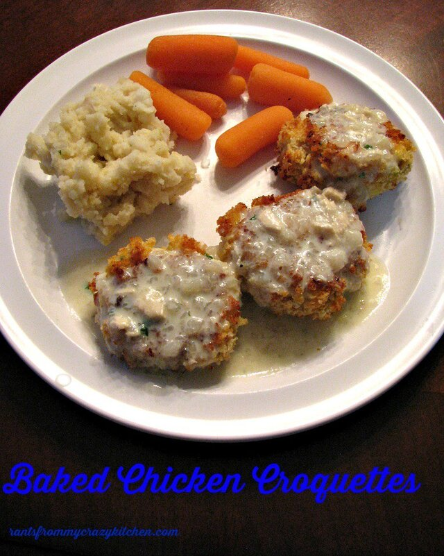 Baked Chicken Croquettes #SundaySupper Retro Food