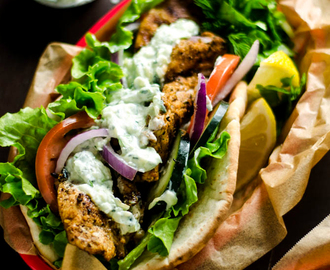 30 Minute Chicken Gyros with Tzatziki